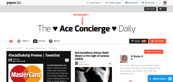 Ace Concierge Paper.li