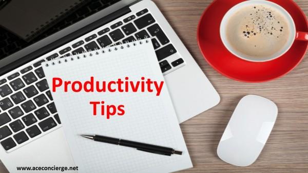 Ace Concierge Productivity Tips